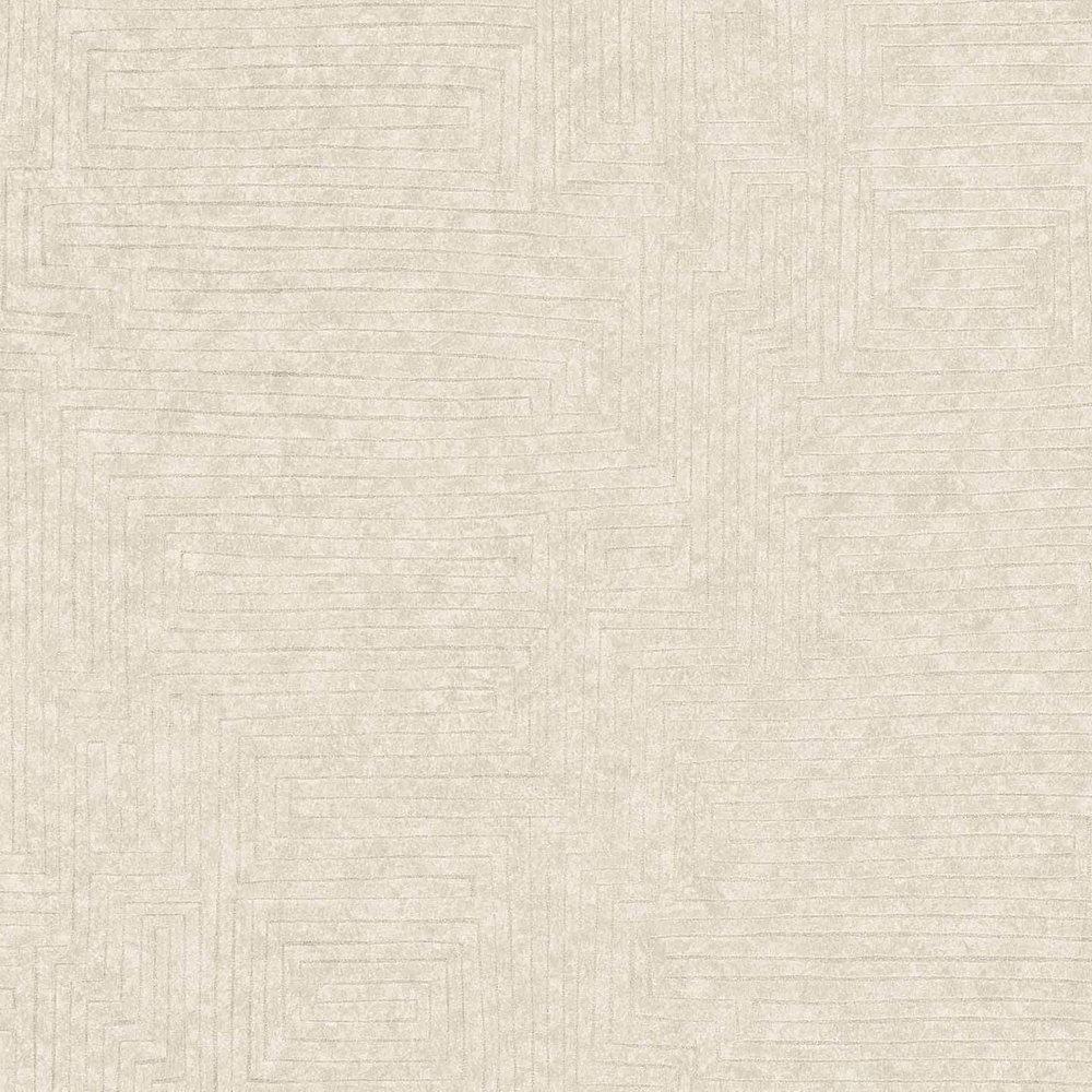 Шпалери AS Creation Origin Ethno 37171-2 бежевий лабиринт 0,53 х 10,05 м