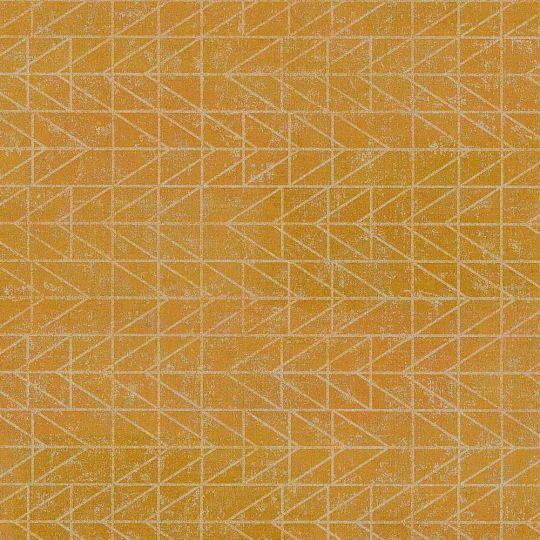 Обои AS Creation Origin Ethno 37174-2 желтые в клетку модерн 0,53 х 10,05 м