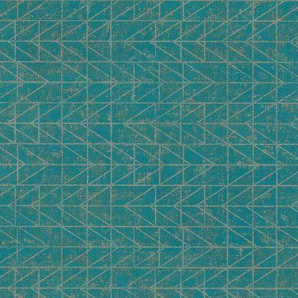 Шпалери AS Creation Origin Ethno 37174-4 бірюзові в клітинку модерн 0,53 х 10,05 м