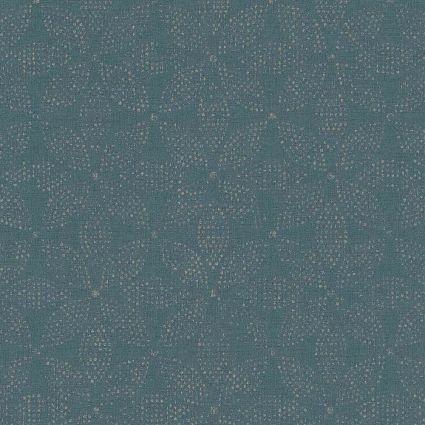 Шпалери AS Creation Origin Ethno 37176-2 синя мозаїка квіти 0,53 х 10,05 м