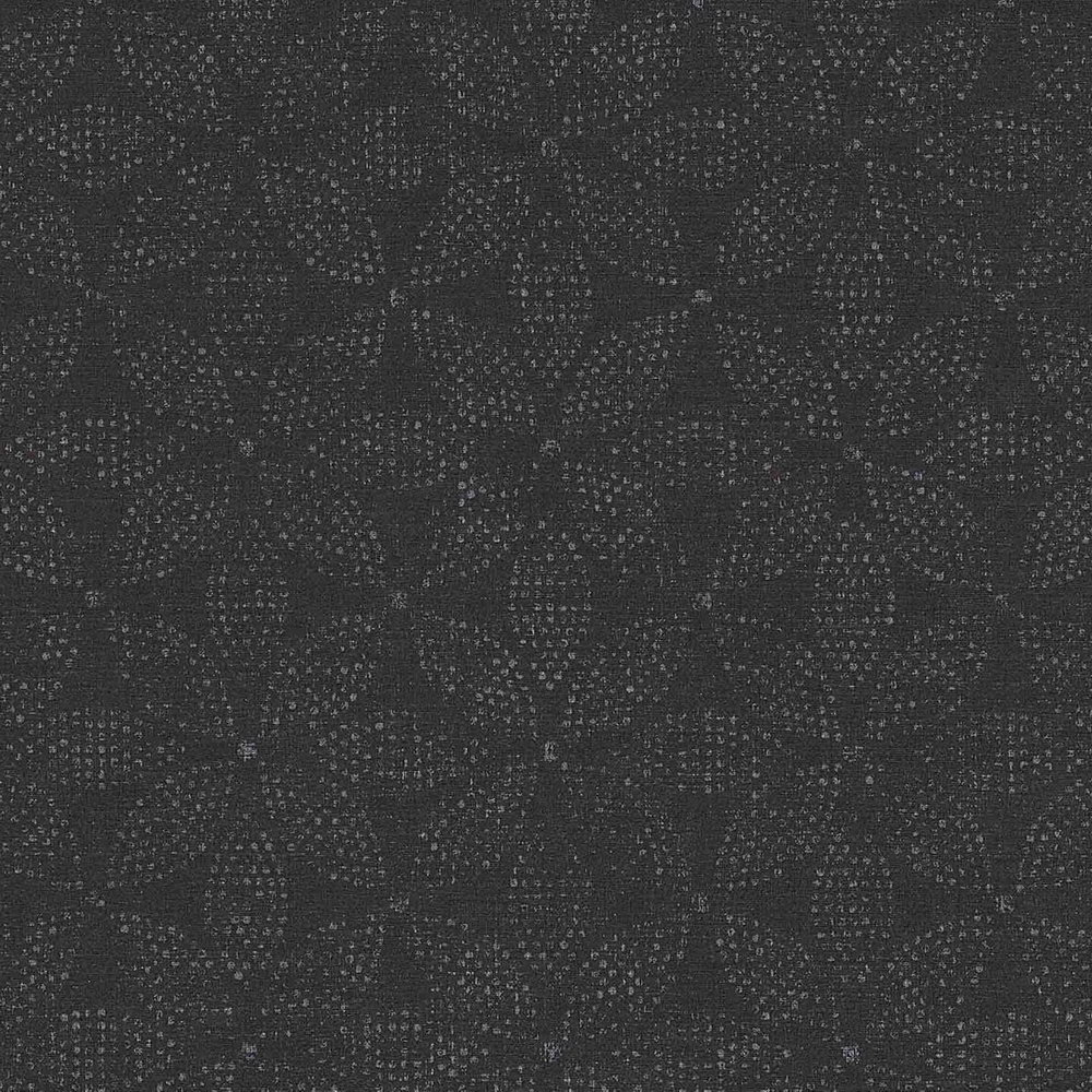Шпалери AS Creation Origin Ethno 37176-3 чорна мозаїка квіти 0,53 х 10,05 м