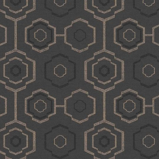 Шпалери AS Creation Origin Ethno 37177-4 стільники чорний 0,53 х 10,05 м