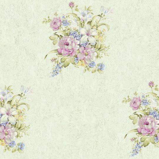 Обои AS Creation Romantico 37225-5 букетик на салатовом фоне