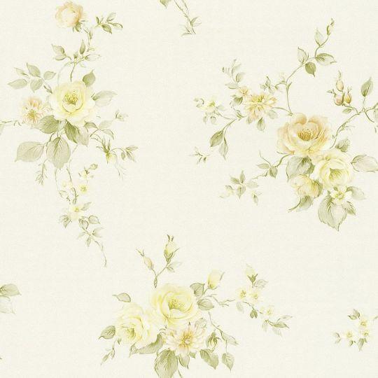 Обои AS Creation Romantico 3723-21 прованс бежево-желтые цветы