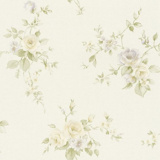 Обои AS Creation Romantico 3723-45 прованс бежево-сиреневые цветы