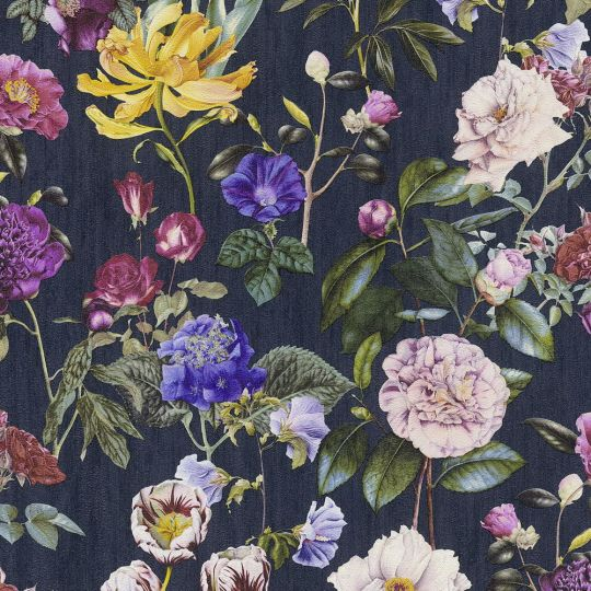 Шпалери AS Creation Trendwall 37336-4 квіткові темні