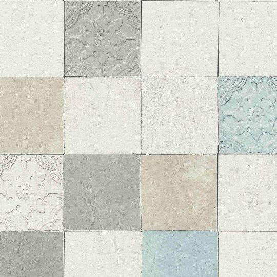Шпалери AS Creation New Walls 37406-1 під плитку сіро-білі