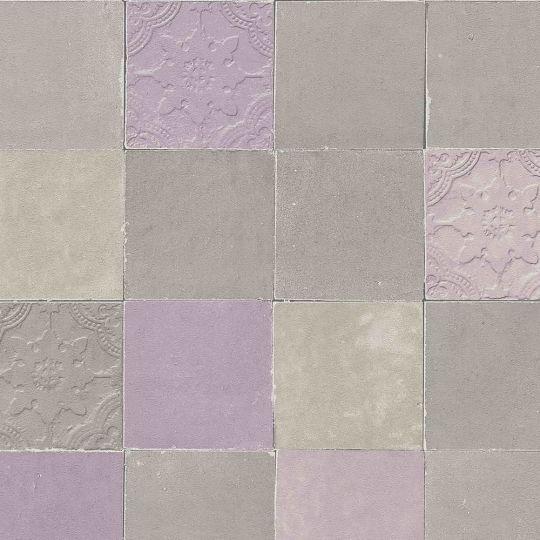 Обои AS Creation New Walls 37406-2 под плитку коричнево-фиолетовые