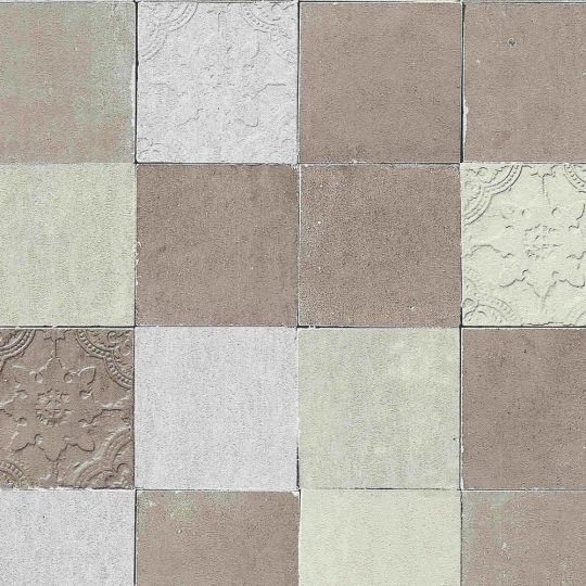 Обои AS Creation New Walls 37406-3 под плитку коричневые