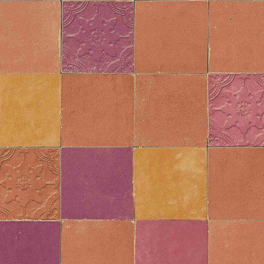 Шпалери AS Creation New Walls 37406-5 під плитку помаранчеві