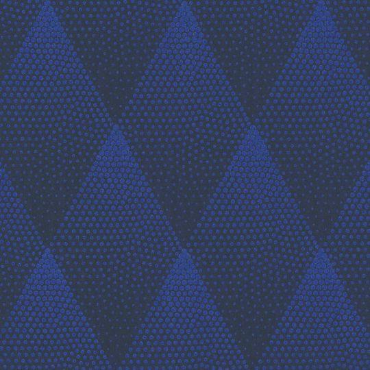 Обои AS Creation New Walls 37419-1 ромбы с блестками темно-синие