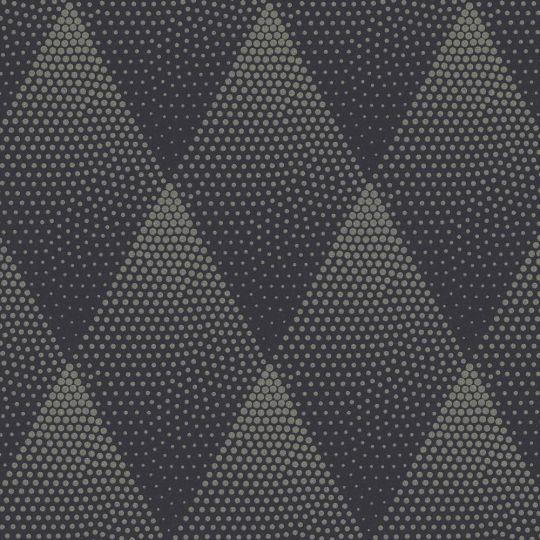 Обои AS Creation New Walls 37419-3 ромбы с блестками черно-золотые