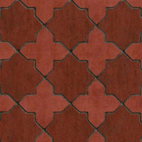 Обои AS Creation New Walls 37421-1 марроканский четырехлистник красный