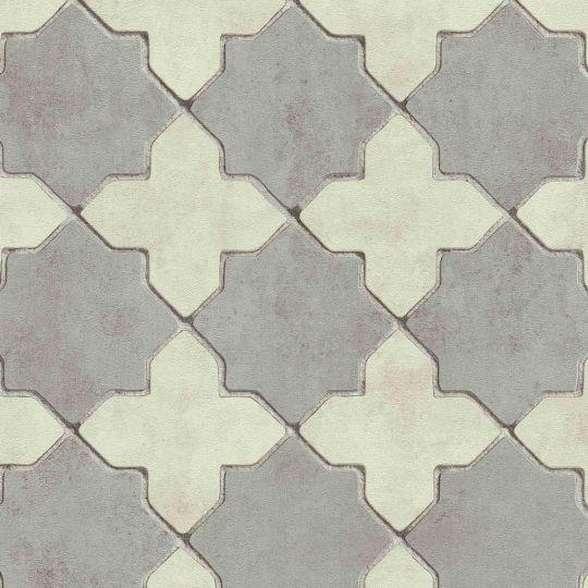 Обои AS Creation New Walls 37421-5 марроканский четырехлистник серый