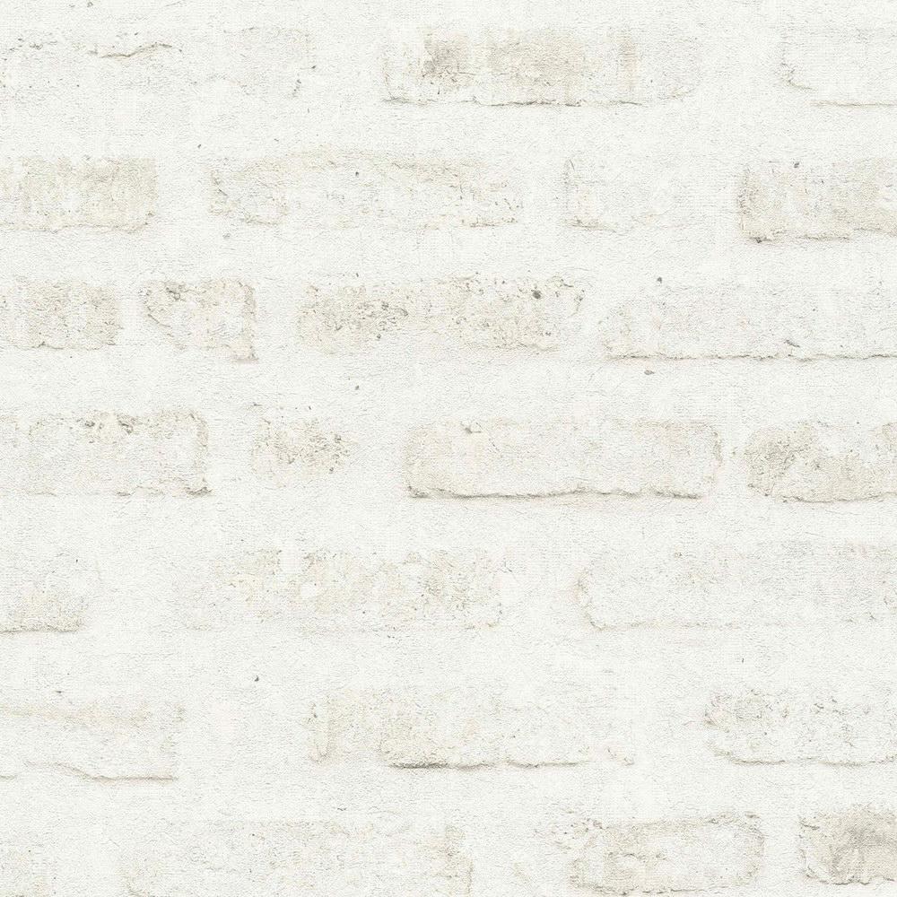 Обои AS Creation New Walls 37422-2 под кирпич бело-серые