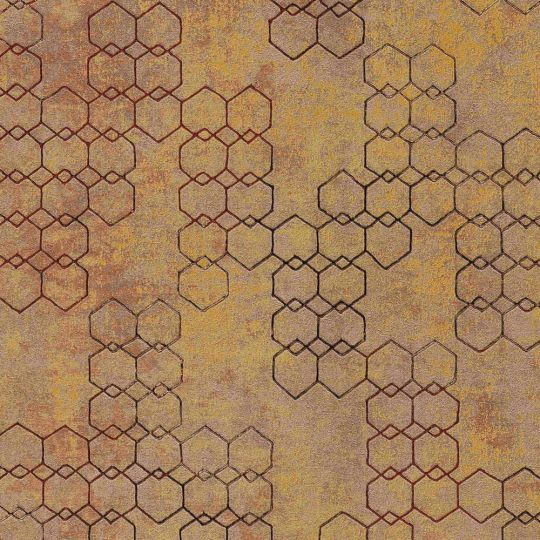 Шпалери AS Creation New Walls 37424-3 стільники цегляного кольору