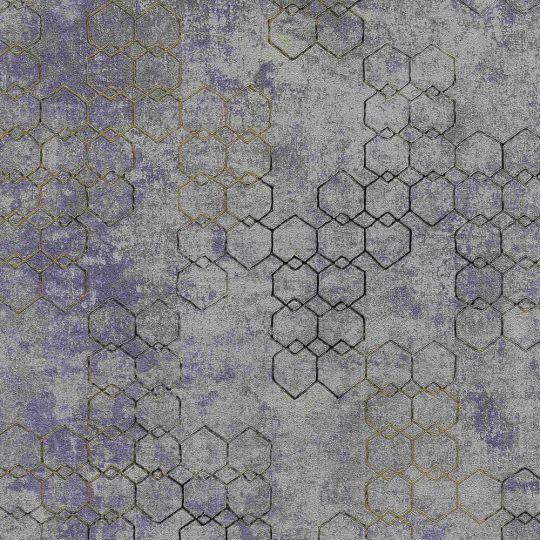 Шпалери AS Creation New Walls 37424-5 стільники фіолетові