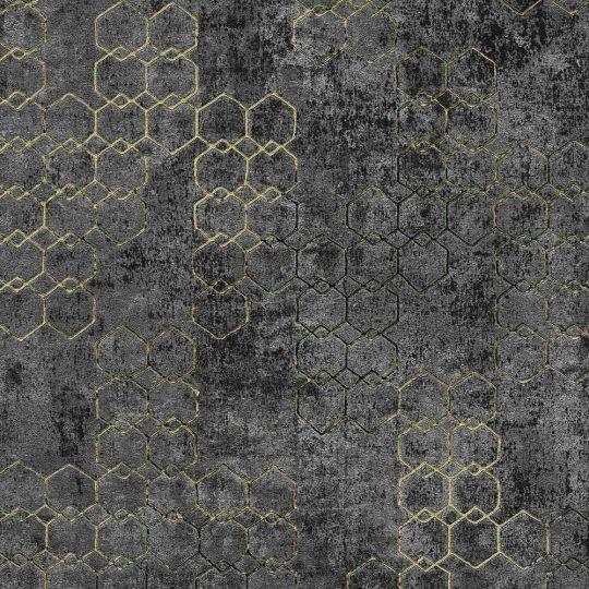 Шпалери AS Creation New Walls 37424-6 стільники графітові