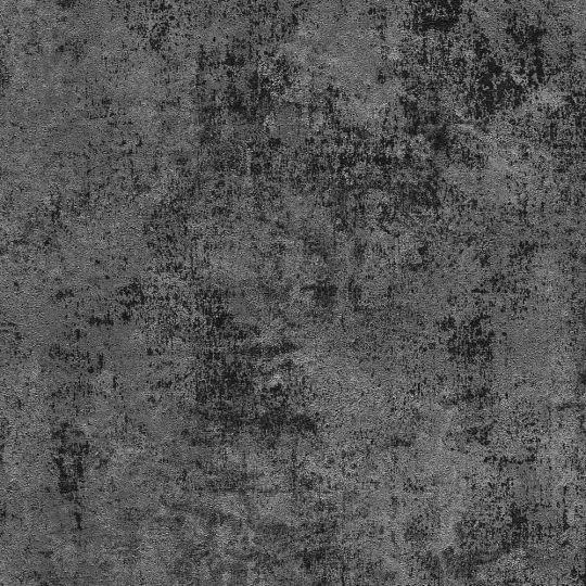 Обои AS Creation New Walls 37425-6 под штукатурку черно-графитовые