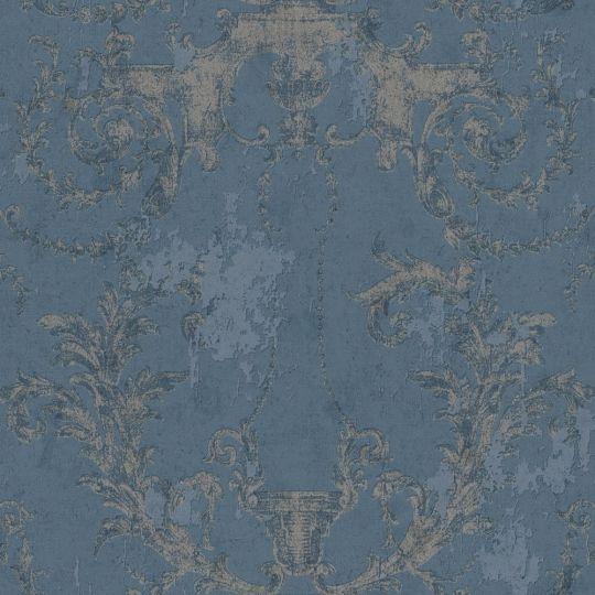 Шпалери AS Creation History of Art 37648-5 фреска з візерунками темно-синя