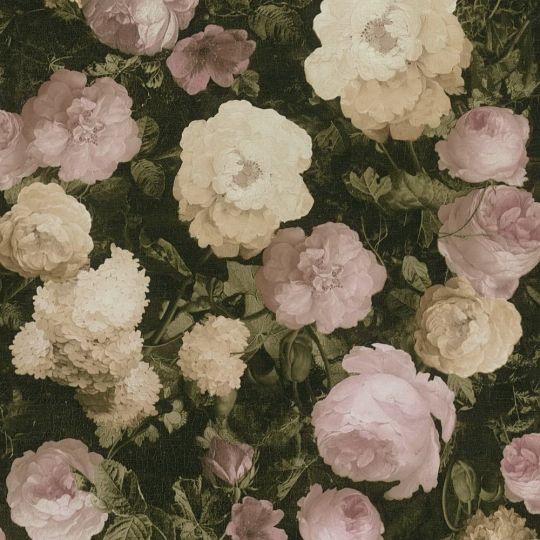 Шпалери AS Creation History of Art 37650-1 квіти на полотні рожево-персикові