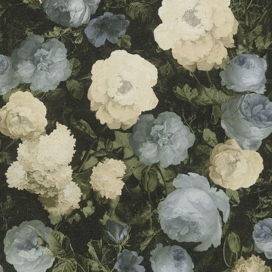 Шпалери AS Creation History of Art 37650-2 квіти на полотні персиково-блакитні