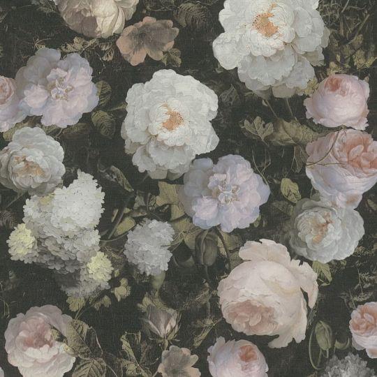 Шпалери AS Creation History of Art 37650-5 квіти на полотні різнокольорові