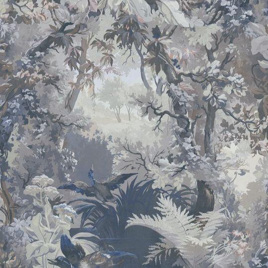 Шпалери AS Creation History of Art 37652-3 пейзаж з качками блакитний
