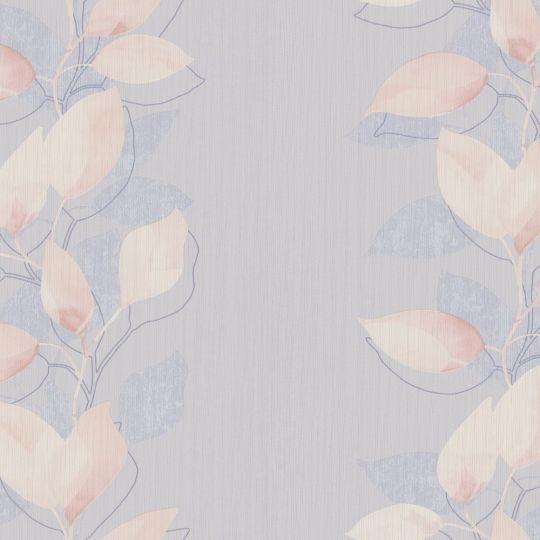 Обои AS Creation Attractive 37815-3 полоса из листьев персиково-голубая