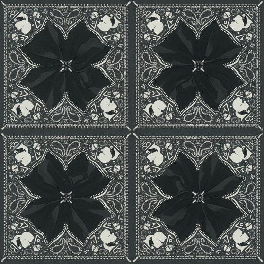 Дизайнерські шпалери AS Creation Karl Lagerfeld 37845-2 калейдоскоп чорно-білий
