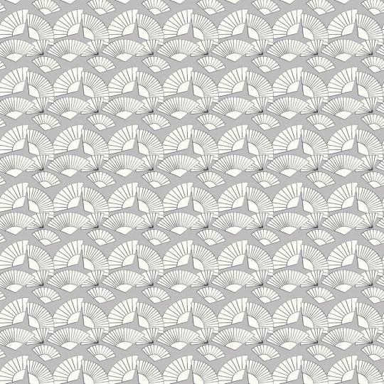 Дизайнерские обои AS Creation Karl Lagerfeld 37847-1 веера бело-серые