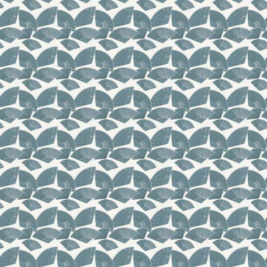 Дизайнерские обои AS Creation Karl Lagerfeld 37847-2 веера морская волна