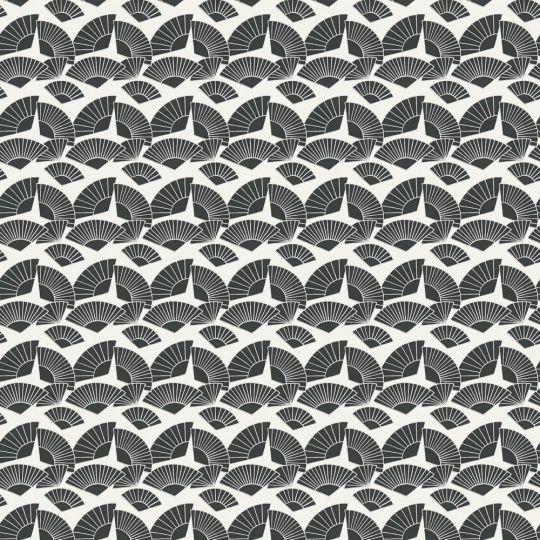 Дизайнерські шпалери AS Creation Karl Lagerfeld 37847-3 віяла чорно-білі