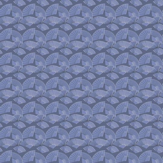 Дизайнерские обои AS Creation Karl Lagerfeld 37847-4 веера синий электрик
