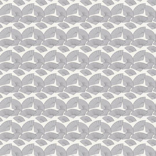 Дизайнерские обои AS Creation Karl Lagerfeld 37847-6 веера серебряные