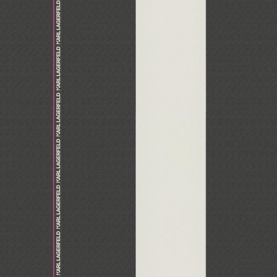 Дизайнерські шпалери AS Creation Karl Lagerfeld 37848-2 в смужку ріббон чорно-білі