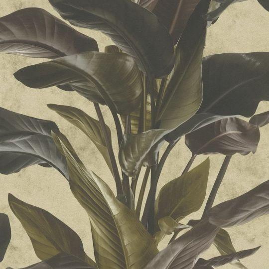 Обои AS Creation Metropolitan 2 37862-4 банановое дерево коричнево-золотое