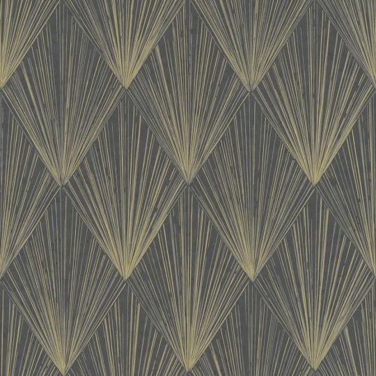 Шпалери AS Creation Metropolitan 2 37864-4 золоті промені на чорному