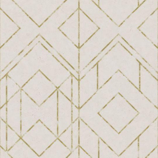 Обои AS Creation Metropolitan 2 37869-3 золотой орнамент на светло-желтом