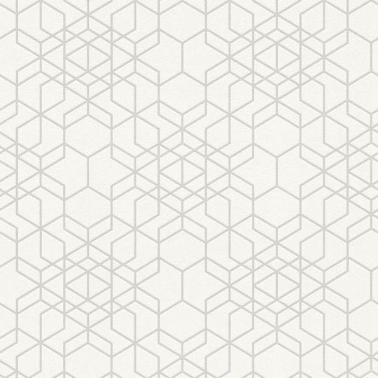 Шпалери AS Creation Podium 37905-1 блискуча геометрія біла