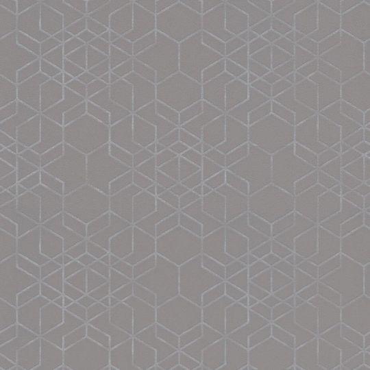 Шпалери AS Creation Podium 37905-2 блискуча геометрія сіра