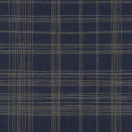 Шпалери AS Creation Metropolitan 2 37919-4 квадрати сіткою темно-сині