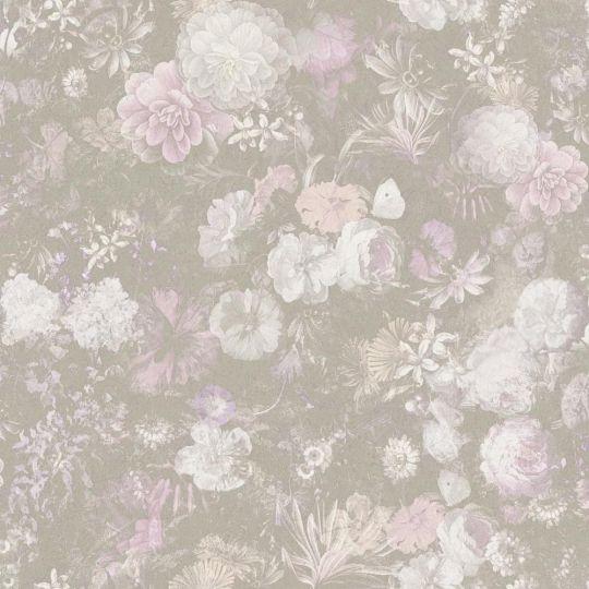 Шпалери AS Creation Impression 38004-2 мальовничий сад сірувато-рожеві метрові