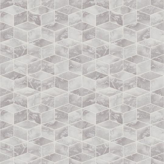 Метрові шпалери AS Creation Global Spots 38007-1 призма сіро-срібна