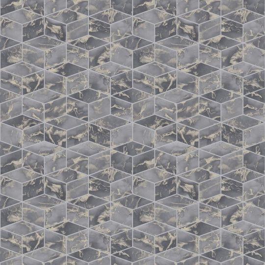 Метрові шпалери AS Creation Global Spots 38007-2 призма графитово-золота