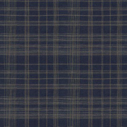 Метрові шпалери AS Creation Global Spots 38016-4 квадрати темно-сині