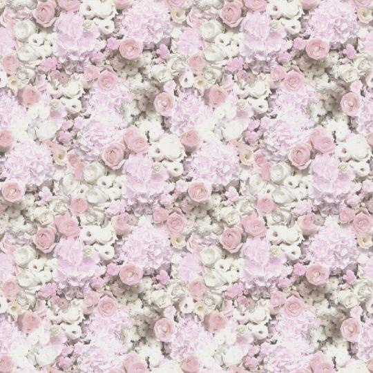 Обои AS Creation Trend Textures 38046-1 цветочное полотно 3D розово-белое