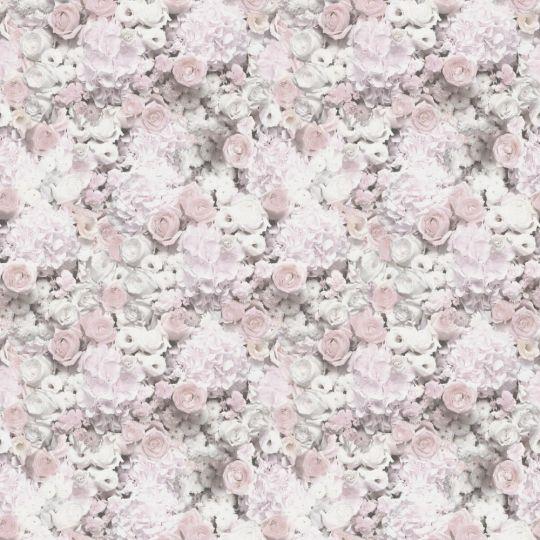 Обои AS Creation Trend Textures 38046-2 цветочное полотно 3D розово-серое