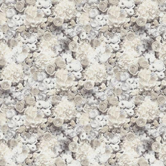 Обои AS Creation Trend Textures 38046-3 цветочное полотно 3D бежево-серое