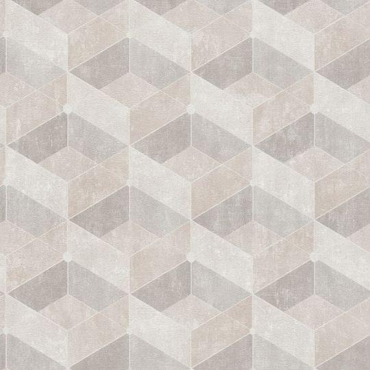Обои AS Creation Titanium 3 38202-1 геометрия бежевый персик